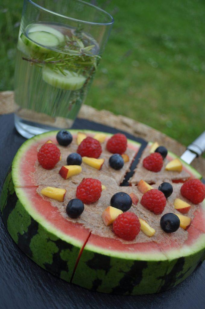 Pizza de fruits