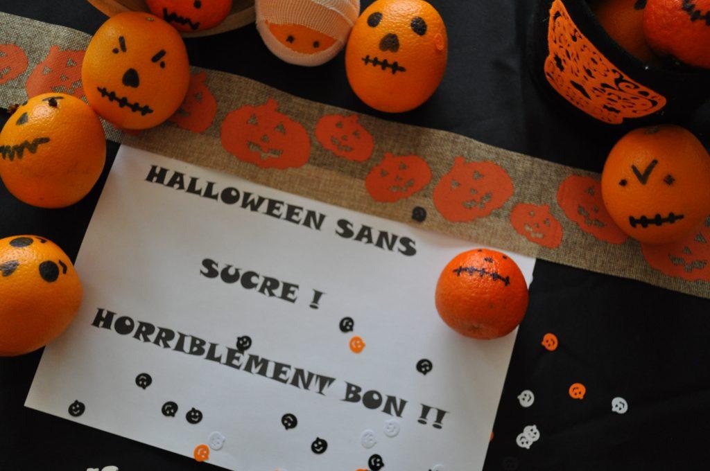 Halloween : chaudron et potions, agrumes customisés
