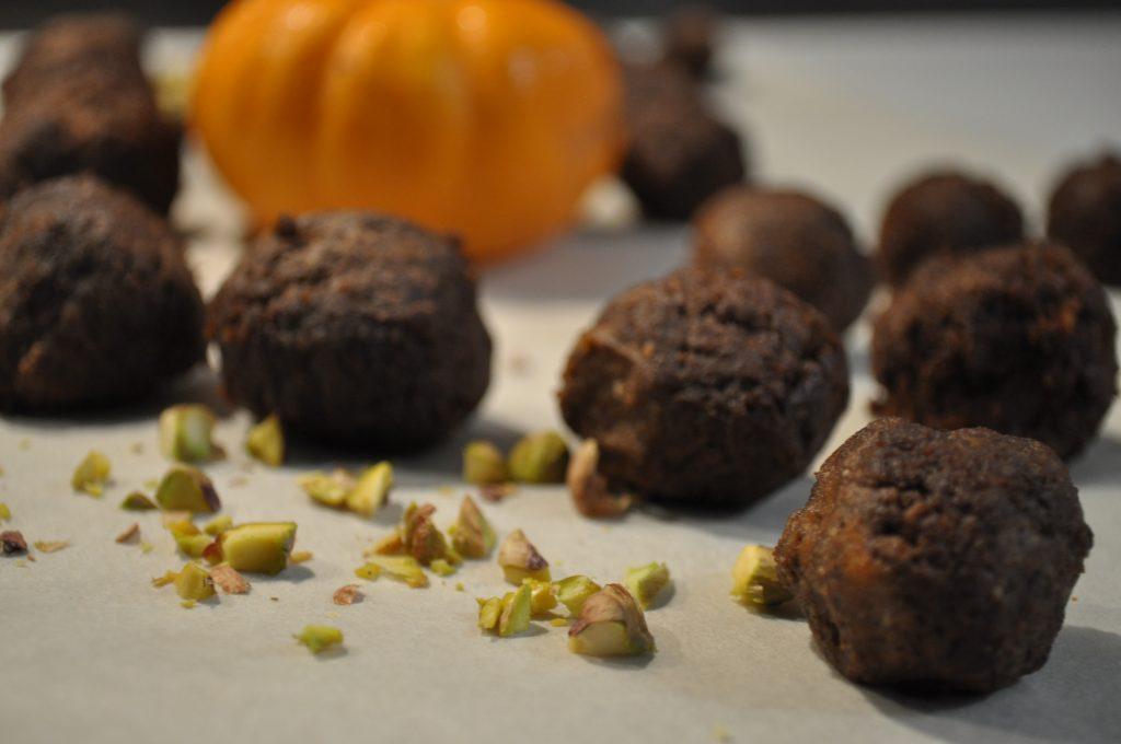Bouchées d'automne sans chocolat