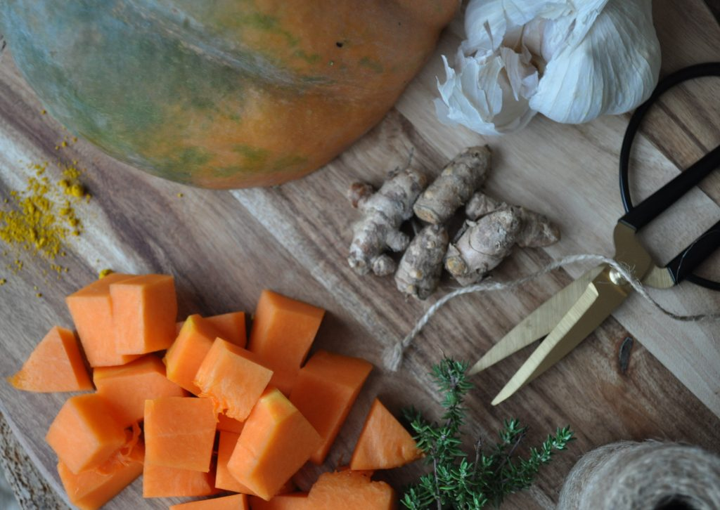 Ingrédients pour la fermentation du potiron