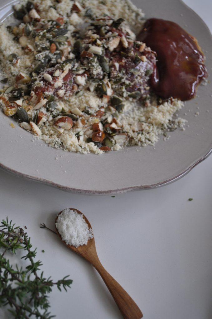 Fer : foie de porc pané